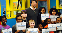 Michael Phelps at the Boys and Girls club